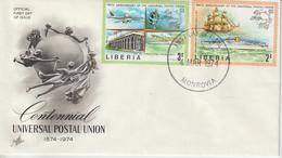 Liberia FDC 1974 UPU 633-34 - Liberia
