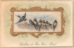 CPA Fantaisie Gaufrée - Carte à Volet - Oiseaux - Distillerie Du Bon Port - ELBEUF (76) - Fantaisies