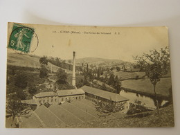 RHONE-COURS-527-UNE USINE DE VALISSAND ED PB - Cours-la-Ville