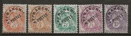 FRANCE:, (*), PREOBLITERES N° YT 39 à 43, Série Blanc, TB - 1893-1947