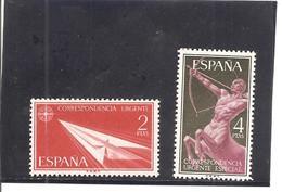 España/Spain-(MH/*) - Edifil  1185-86 - Yvert Urgente 31, 33 - Correo Urgente
