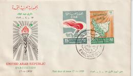 Syrie FDC 1959 évacuation PA 154-155 - Syria