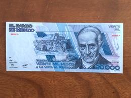 MEXIQUE - 20000 Pesos - Pick 91a - Quatrième Édition, Type 1 - Série F - Daté Du 19 Jul 1985 - UNC - Mexique