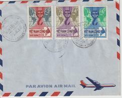 Vietnam Sud FDC 1966 Aide Au Monde Libre 281-83 - Vietnam