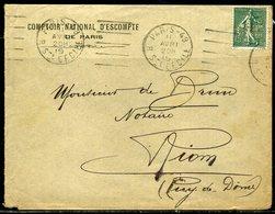 France N° 130 Perforé CNE + Oblitération Mécanique ( Essai Garcia )  Paris 48  1919 - 1877-1920: Periodo Semi Moderne