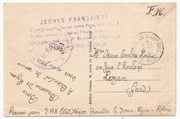 """FRANCE - CPA Griffe """"Jeunes Français !! Si Vous Voulez Servir Votre Pays, Votre Chef, Si Vous Aimez Le Cheval, L'Auto... - Marcophilie (Lettres)"""