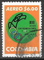 1977 6p Central America Games Emblem Used - Colombia
