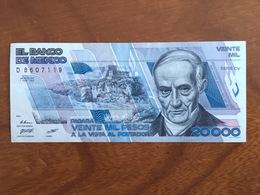MEXIQUE - 20000 Pesos - Pick 92a - Quatrième Édition, Type 2 - Série CV - Daté Du 1 Feb 1988 - UNC - Mexique