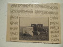 Voiture Et Remorque - Le Gouter Camping  - Coupure De Presse D'époque De 1928 - Camping