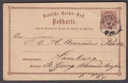 Wlk_ Deutsches Reich Ganzsache - Mi.Nr. 1 -  1873 PFOERTEN - Deutschland