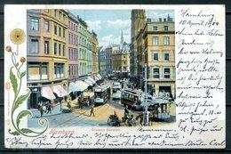 AK Aus Hamburg - Grosser Burstah (1900) Mit Straßenbahn - Mitte