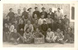 CPA PHOTO . CAMP DE CHIBRON .CHORALE .ON ATTENDS LES ALLEMANDS !1940 - Frankrijk