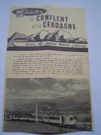 DEPLIANT TOURISME Ancien 1959 : SNCF / LE PETIT TRAIN JAUNE / CONFLENT - CERDAGNE / PYRENEES - Reiseprospekte