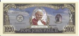 POPE JOHN PAUL II UNC - Etats-Unis