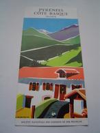 DEPLIANT TOURISME Ancien 1957 : SNCF / PYRENEES / COTE BASQUE / Illustration JACQUELIN - Dépliants Touristiques