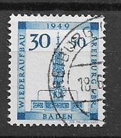 1949 USED Baden Mi 41 - Zone Française