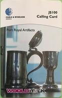 JAMAÏQUE  -  Prepaid  -  WORLD-TALK  -  Port Royal Artifacts  -  J $ 100 - Jamaica