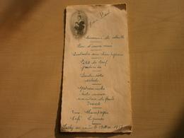 Menu Ancien 1957 JEAN-PAUL Communion - Menus