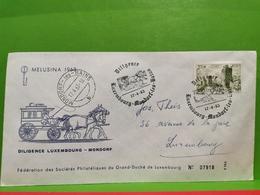 Diligence Luxembourg-Mondorf 1963. Melusina - Ganzsachen