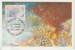 Wallis Et Futuna Carte Maximum 1998 Coraux 524 - Maximum Cards