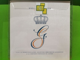 Mariage Principier, S. À. R. Le Prince Guillaume - Errors & Oddities