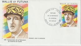 Wallis Et Futuna FDC 1990 Charles De Gaulle PA 169 - FDC