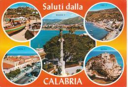 CALABRIA - VEDUTINE MULTIVUES - NICOTERA - VIBO VALENTIA - GIOIA TAURO - TROPEA - REGGIO CALABRIA - NON VIAGGIATA - Otras Ciudades