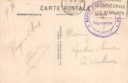 20-4685 : CACHET FRANCHISE MILITAIRE. DEPOT D'ARTILLERIE N° 29. LE VAGUEMESTRE. CACHET ANGOULEME CHARENTE 16 AVRIL 1940 - Marcophilie (Lettres)