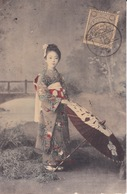 CPA - Japon - Jeune Fille En Kimono à L'Ombrelle - Japan