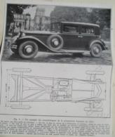 Voiture Renault Berline Nervastella 8 Cyl. -  Coupure De Presse De 1932 - Voitures