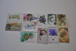 Lot De Cpa Bonne Année Des Gaufrées, ........ 1906 1907 - Cartes Postales