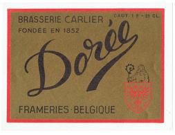 OUD ETIKET BR. CARLIER FRAMERIES - 0385 - Beer