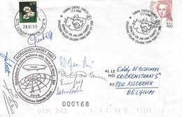 Spitzberg Expédition Italienne Lonyearbyen 28 JU 2000 - Signature Des Membres - Stamps