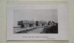 Sillery  (canada) Tracteur Avec Deux Remorques à Betteraves -  Coupure De Presse De 1913 - Tracteurs