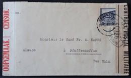 Enveloppe Du Vicariat Apostolique De KROONSTAD Afrique Du Sud Vers PFAFFENHOFFEN Alsace Nov 1940 Censure SC296 - Marcophilie (Lettres)