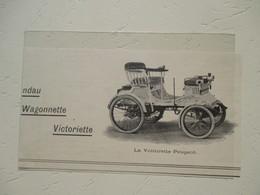 Voiturette Peugeot  -  Coupure De Presse De 1900 - Voitures