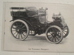 Tonneau Peugeot  -  Coupure De Presse De 1900 - Voitures