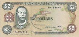 JAMAIQUE 2 DOLLARS 1993 UNC P 69 E - Jamaique