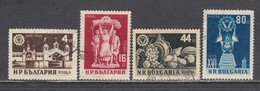 Bulgaria 1955 - International Fair, Mi-Nr. 963/66, Used - 1945-59 People's Republic