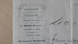 BRASSERIE De La Providence, Dampremy-lez-Charleroi Brasseur E. Mineur (Marchienne-au-pont, 7 Septembre 1877, Signé - Bank En Verzekering