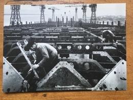 CHANTIER NAVAL DE PENHOUET CONSTRUCTION PONT SUPERIEUR PAQUEBOT NORMANDIE 1932 KOLLAR - Paquebots