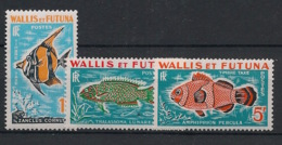 Wallis Et Futuna - 1963 - Taxe TT N°Yv. 37 à 39 - Poissons - Neuf Luxe ** / MNH / Postfrisch - Impuestos