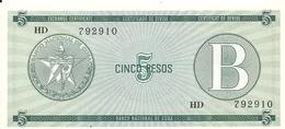 CUBA 5 PESOS ND1985 UNC P FX7 - Cuba