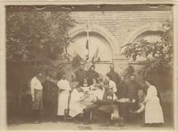 MARMANDE- Photo 9 X 11 Cm Hôpital 99bis  Avec Médecin Et Bléssés 1/08/1916 - Marmande