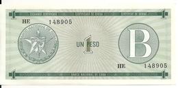 CUBA 1 PESO ND1985 UNC P FX6 - Cuba