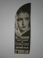Rare, Marque Page De 1935, Pub Pour Le Film 2e Bureau Avec Jean Murat Et Véra Korène, Voir Lien Dans Description (A2p42) - Marcapáginas
