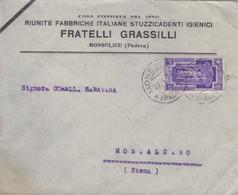 Da Monselice A Montalcino - Anno Santo Cent. 50 Isolato - 1900-44 Victor Emmanuel III