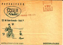 Lettre EMA Havas C Muette Le Club De La Femme Operation Club Omo Dessin Peynet Facteur Velo   02/32 - Bandes Dessinées
