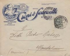 Da Empoli A Montalcino Floreale Cent. 25 Isolato - 1900-44 Victor Emmanuel III