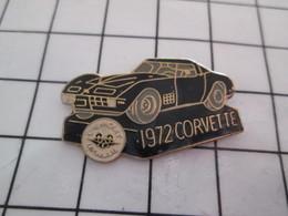 912c  Pin's Pins / Beau Et Rare / THEME : AUTOMOBILES / CORVETTE NOIRE 1972  CHEVROLET - Corvette